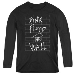 Image for Roger Waters Women's Long Sleeve T-Shirt - The Wall on Black