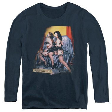Image for Bettie Page Women's Long Sleeve T-Shirt - Notorious Color