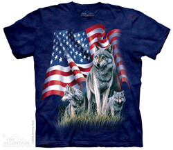Image for The Mountain T-Shirt - Wolf Flag