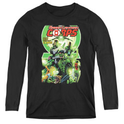 Image for Green Lantern Corps #25 Logo Women's Long Sleeve T-Shirt