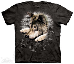 Image for The Mountain T-Shirt - Wolf in Dyed Paw