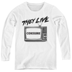 Image for They Live Women's Long Sleeve T-Shirt - Consume