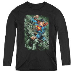 Image for Superman Women's Long Sleeve T-Shirt - Indestructible
