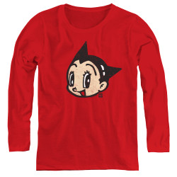 Image for Astro Boy Women's Long Sleeve T-Shirt - Face