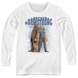 Image for Archer & Armstrong Women's Long Sleeve T-Shirt - Two Against All