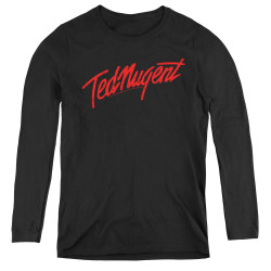Image for Ted Nugent Women's Long Sleeve T-Shirt - Distress Logo