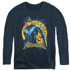 Image for Batman Women's Long Sleeve T-Shirt - Nightwing Moon