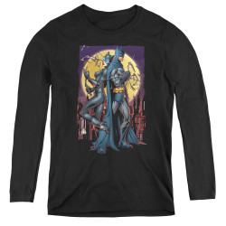 Image for Batman Women's Long Sleeve T-Shirt - Paint The Town Red