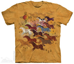 Image for The Mountain T-Shirt - Horses & Sun