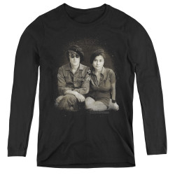 Image for John Lennon Women's Long Sleeve T-Shirt - Beret