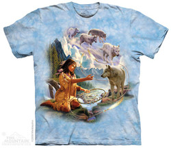 Image for The Mountain T-Shirt - Dreams of Wolf Spirit