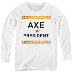 Image for Billions Women's Long Sleeve T-Shirt - Axe for President