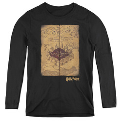 Image for Harry Potter Women's Long Sleeve T-Shirt - Marauder's Map