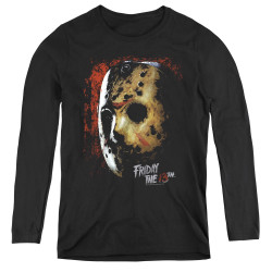 Image for Friday the 13th Women's Long Sleeve T-Shirt - Mask of Death