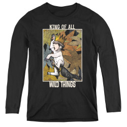 Image for Where the Wild Things Are Women's Long Sleeve T-Shirt - King of All Wild Things