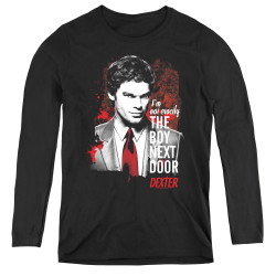 Image for Dexter Women's Long Sleeve T-Shirt - Boy Next Door