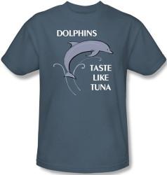 Image Closeup for Dolphins Taste Like Tuna T-Shirt