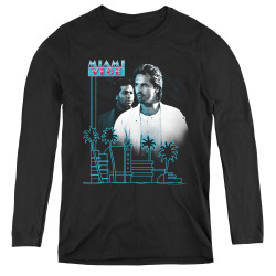 Image for Miami Vice Looking Out Women's Long Sleeve T-Shirt