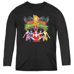 Image for Power Rangers Women's Long Sleeve T-Shirt - Rangers Unite