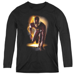 Image for Flash TV Show Women's Long Sleeve T-Shirt - Ready