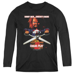 Image for Child's Play Women's Long Sleeve T-Shirt - Chucky's Back