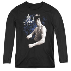 Image for Bruce Lee Women's Long Sleeve T-Shirt - Dragon Stance