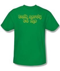 Image Closeup for Talk Nerdy to Me T-Shirt