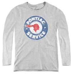 Image for Pontiac Women's Long Sleeve T-Shirt - Vintage Pontiac Service