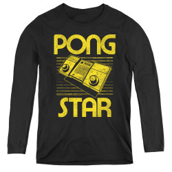 Image for Atari Women's Long Sleeve T-Shirt - Pong Star