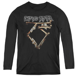 Image for Twisted Sister Women's Long Sleeve T-Shirt - Bone Logo