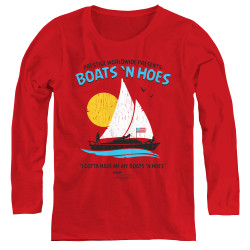 Image for Step Brothers Women's Long Sleeve T-Shirt - Prestige Worldwide Boats 'n Hoes