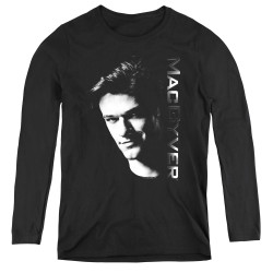 Image for MacGyver Women's Long Sleeve T-Shirt - Face