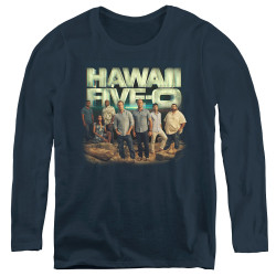 Image for Hawaii Five-0 Women's Long Sleeve T-Shirt - Cast