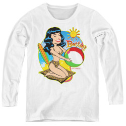 Image for Bettie Page Women's Long Sleeve T-Shirt - Beach Bettie