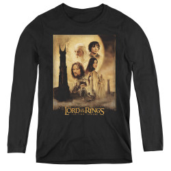 Image for Lord of the Rings Women's Long Sleeve T-Shirt - Two Towers Poster