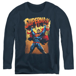 Image for Superman Women's Long Sleeve T-Shirt - Lift Up