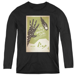Image for Star Trek Juan Ortiz Episode Poster Women's Long Sleeve T-Shirt - Ep. 4 the Naked Time on Black