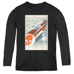 Image for Star Trek Juan Ortiz Episode Poster Women's Long Sleeve T-Shirt - Ep. 35 the Doomsday Machine on Black