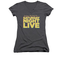 Image for Saturday Night Live Girls V Neck T-Shirt - Live From New York