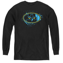 Image for Batman Youth Long Sleeve T-Shirt - Eyes in the Darkness Logo
