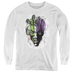 Image for Batman Youth Long Sleeve T-Shirt - Joker Airbrush