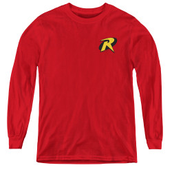 Image for Robin Youth Long Sleeve T-Shirt - Logo