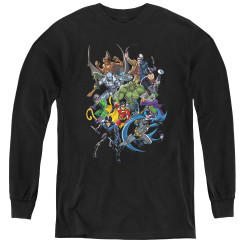 Image for Batman Youth Long Sleeve T-Shirt - Saints and Psychos