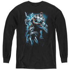 Image for The Dark Knight Rises Youth Long Sleeve T-Shirt - Bane Evil Rising