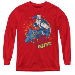 Image for The Dark Knight Rises Youth Long Sleeve T-Shirt -Bane Attack!