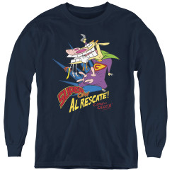 Image for Cow and Chicken Super Cow Youth Long Sleeve T-Shirt
