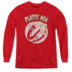 Image for Plastic Man Bounce Youth Long Sleeve T-Shirt