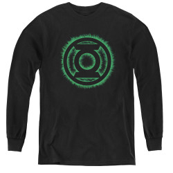 Image for Green Lantern Green Flame Logo Youth Long Sleeve T-Shirt