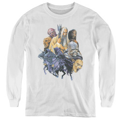 Image for Lord of the Rings Youth Long Sleeve T-Shirt -Collage of Evil