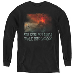 Image for Lord of the Rings Youth Long Sleeve T-Shirt -Walk into Mordor